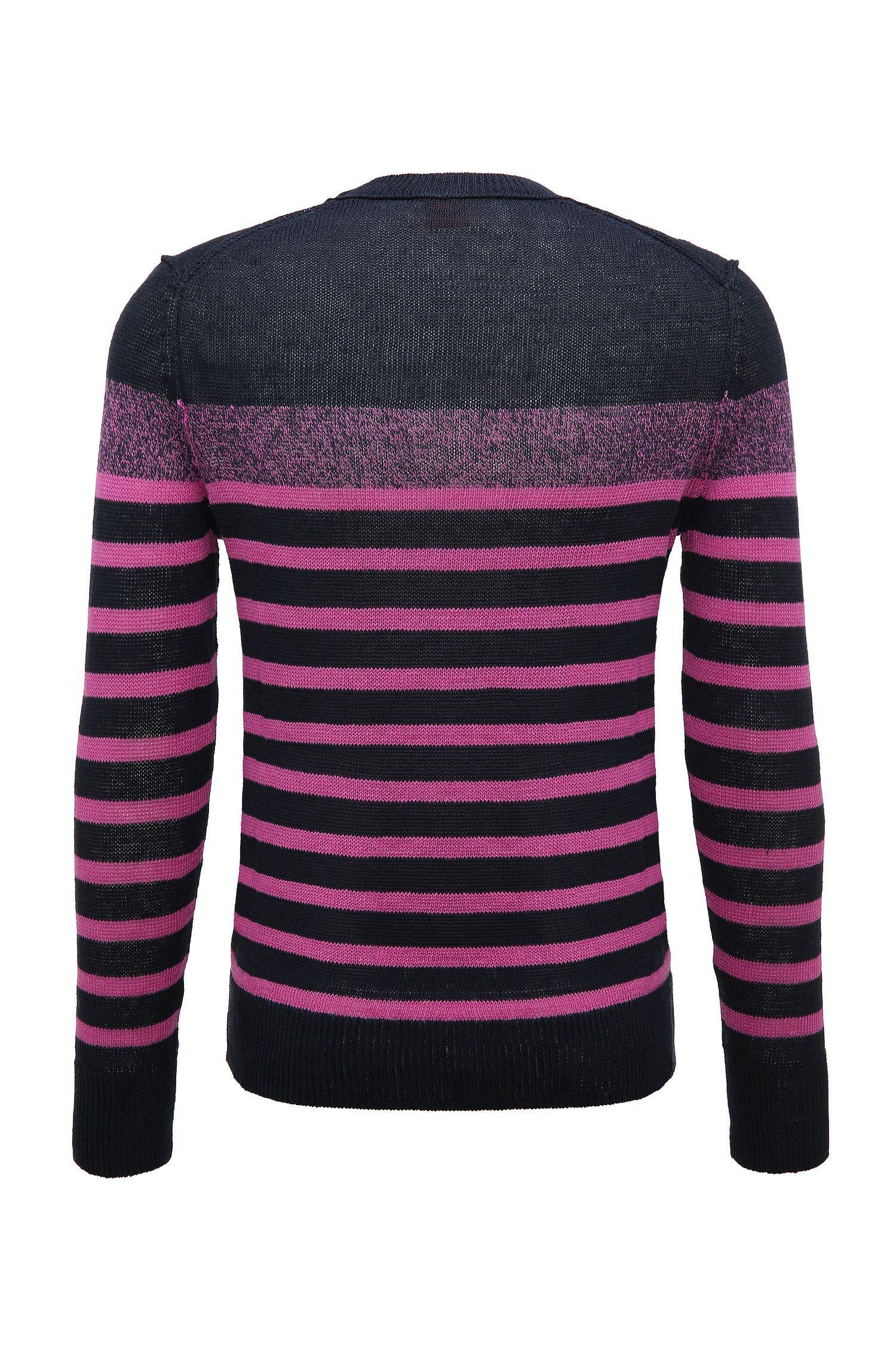 'Krew' | Striped Linen Sweater