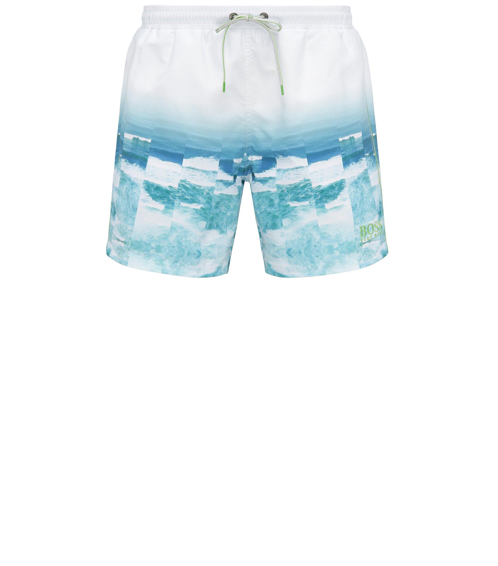 Printed Swim Trunk | Velas, Open Blue