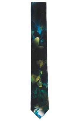 'Tie 6 cm'   Slim, Silk Embroidered Tie, Green