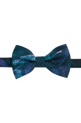 'Big Bow Tie'   Silk Floral Patterned Bow Tie, Green