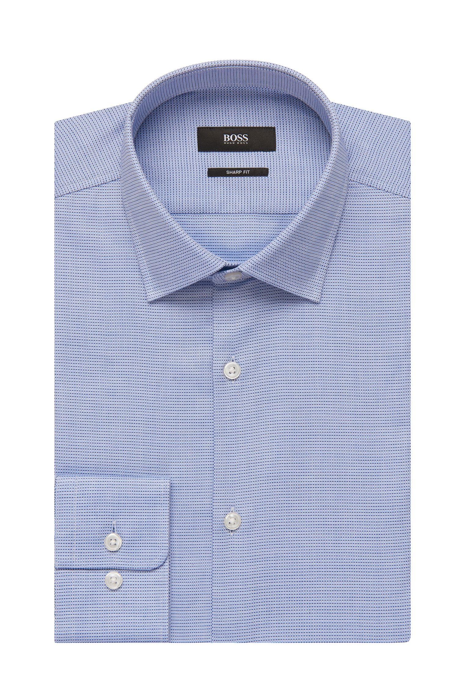 Geometric Cotton Dress Shirt, Sharp Fit | Marley US