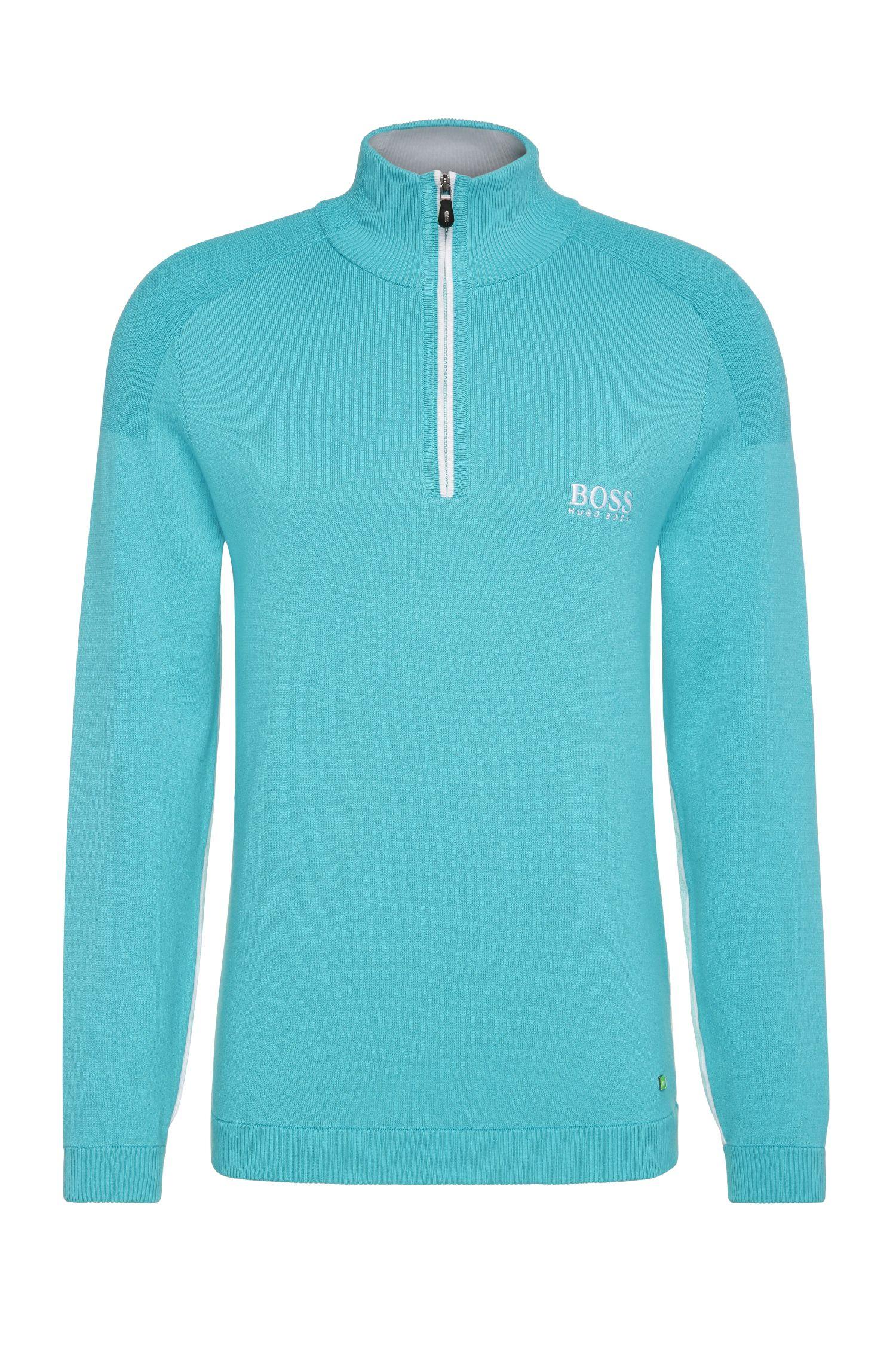 'Zayo MK SR17' | Stretch Cotton Water Repellent Troyer Sweater