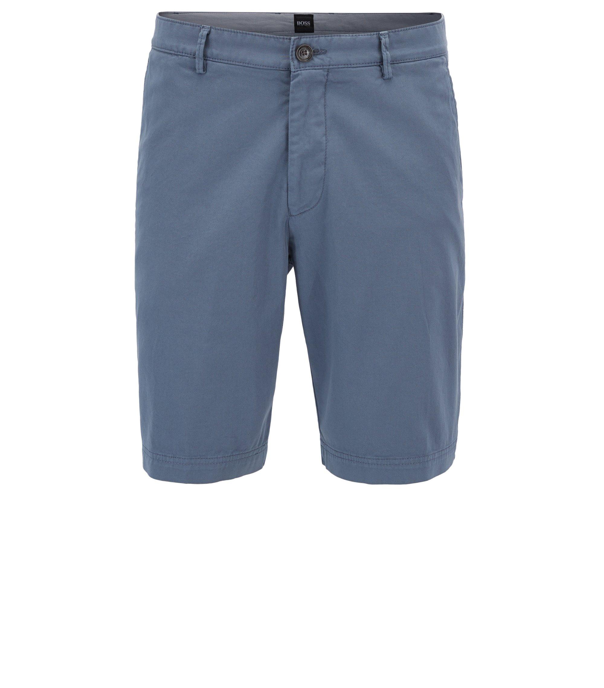 Stretch Cotton Gabardine Short, Regular Fit | Crigan Short D, Open Grey