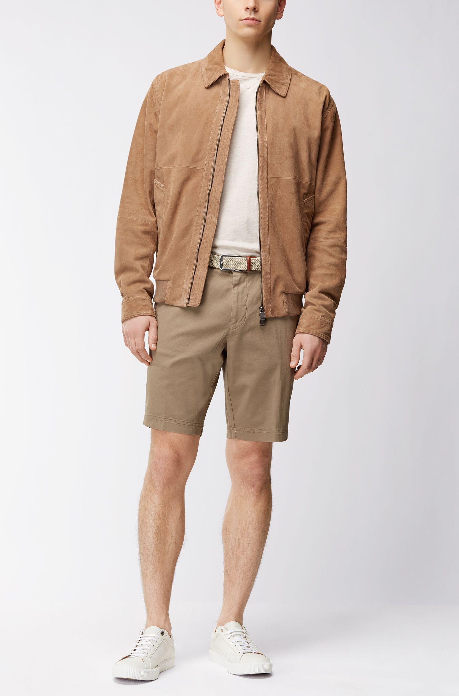 Stretch Cotton Gabardine Short, Regular Fit | Crigan Short D