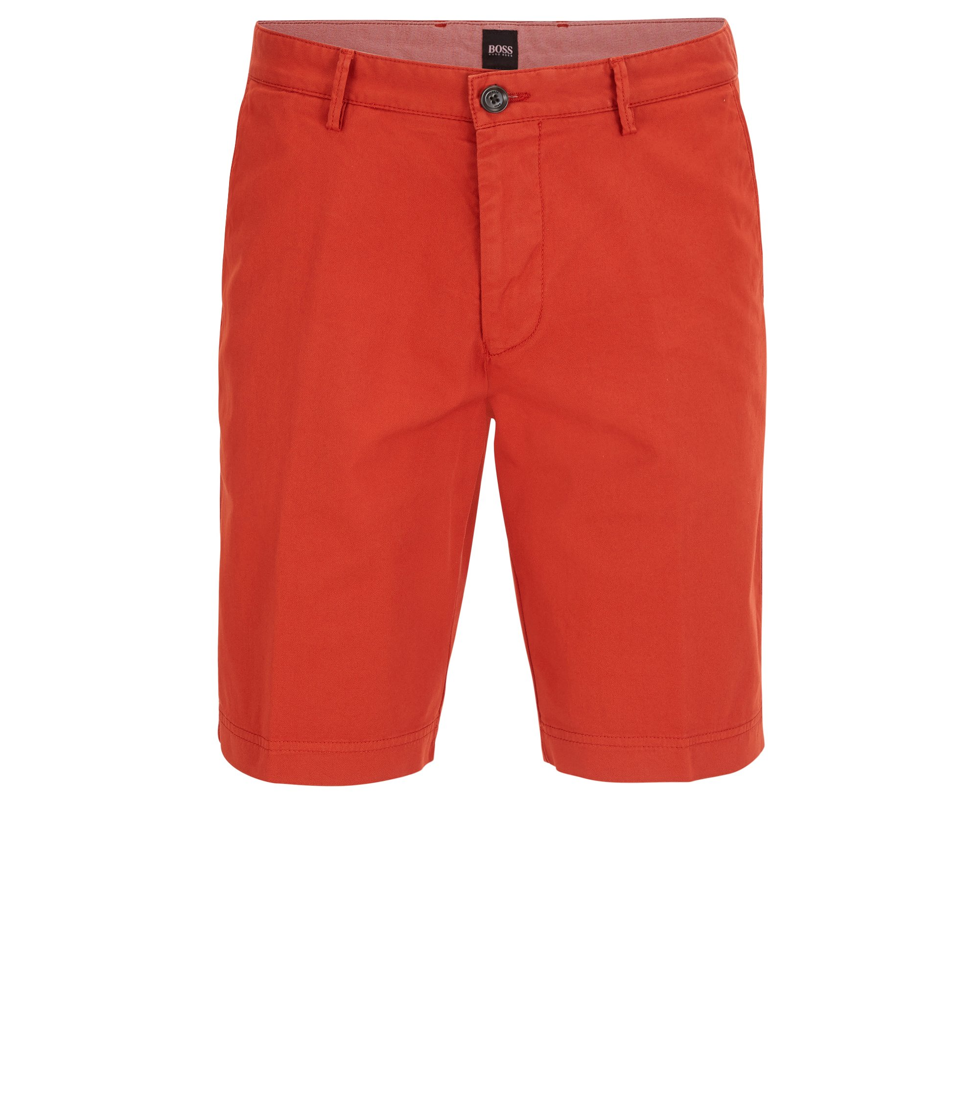 Stretch Cotton Gabardine Short, Regular Fit | Crigan Short D, Dark Orange
