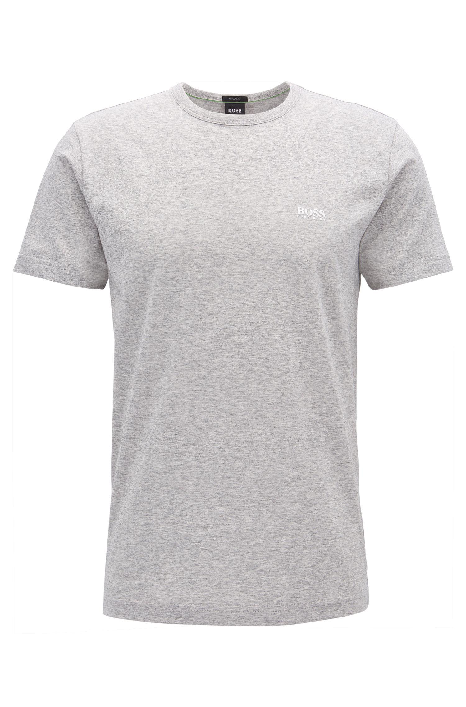 Regular-fit T-shirt in single jersey, Light Grey