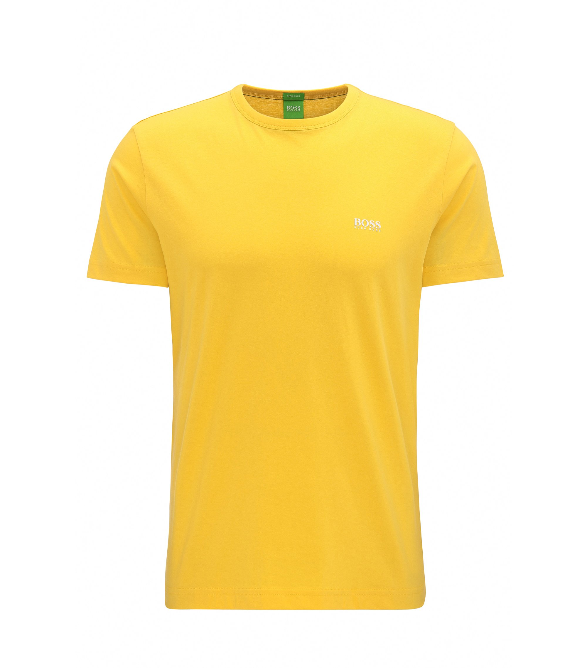 Regular-fit T-shirt in single jersey, Yellow