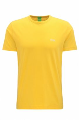 'Tee' | Cotton Graphic T-Shirt, Yellow
