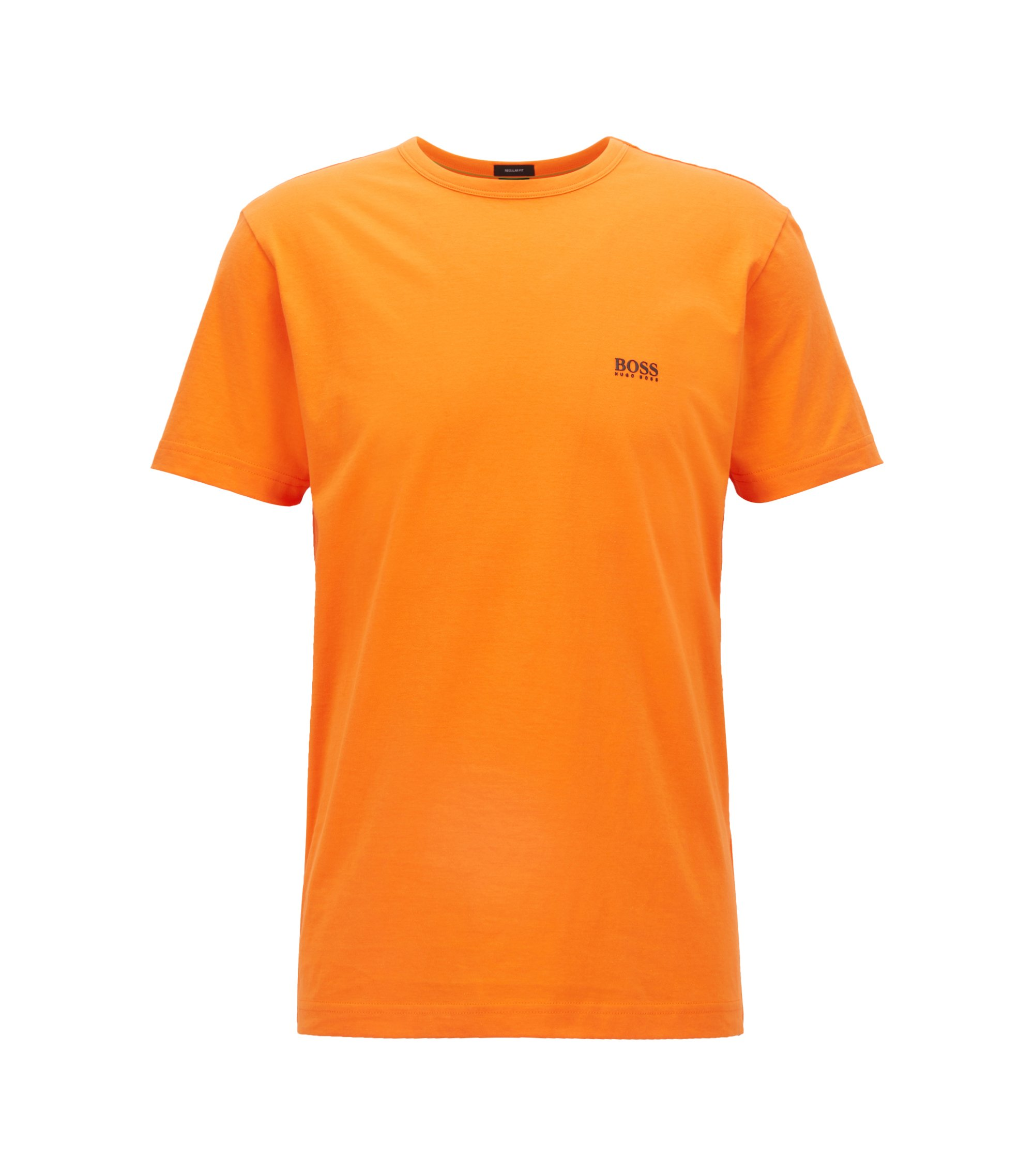 Regular-fit T-shirt in single jersey, Orange