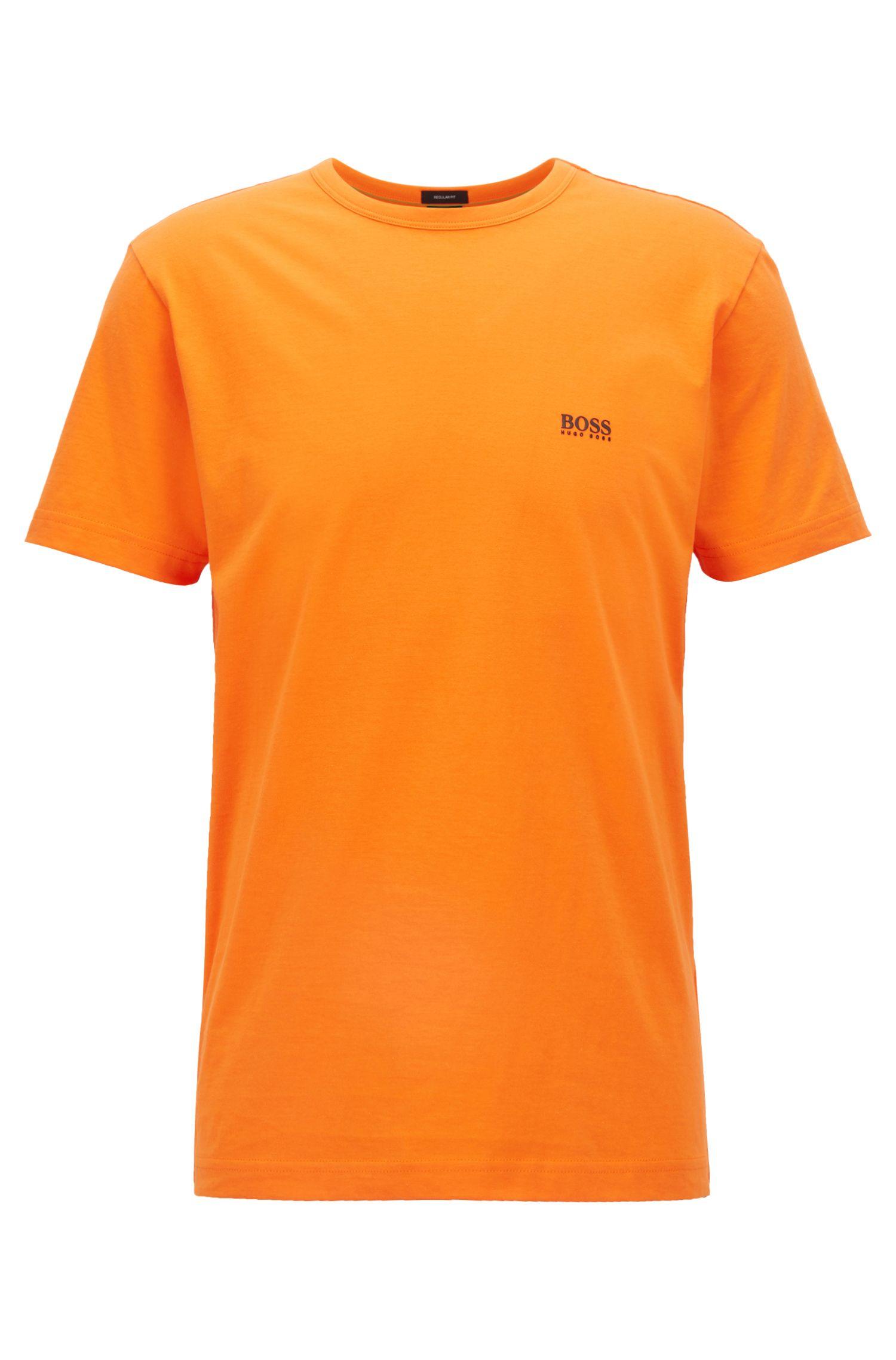Regular-fit T-shirt in single jersey, Orange