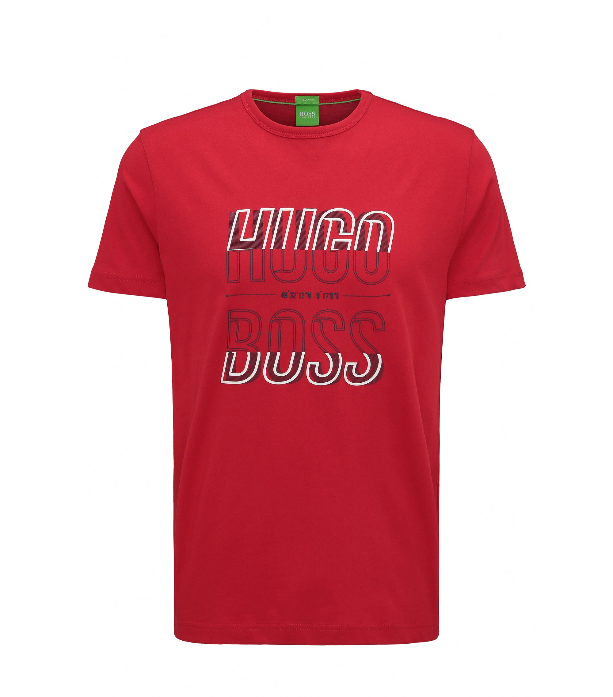 Cotton Graphic T-Shirt   Tee, Red