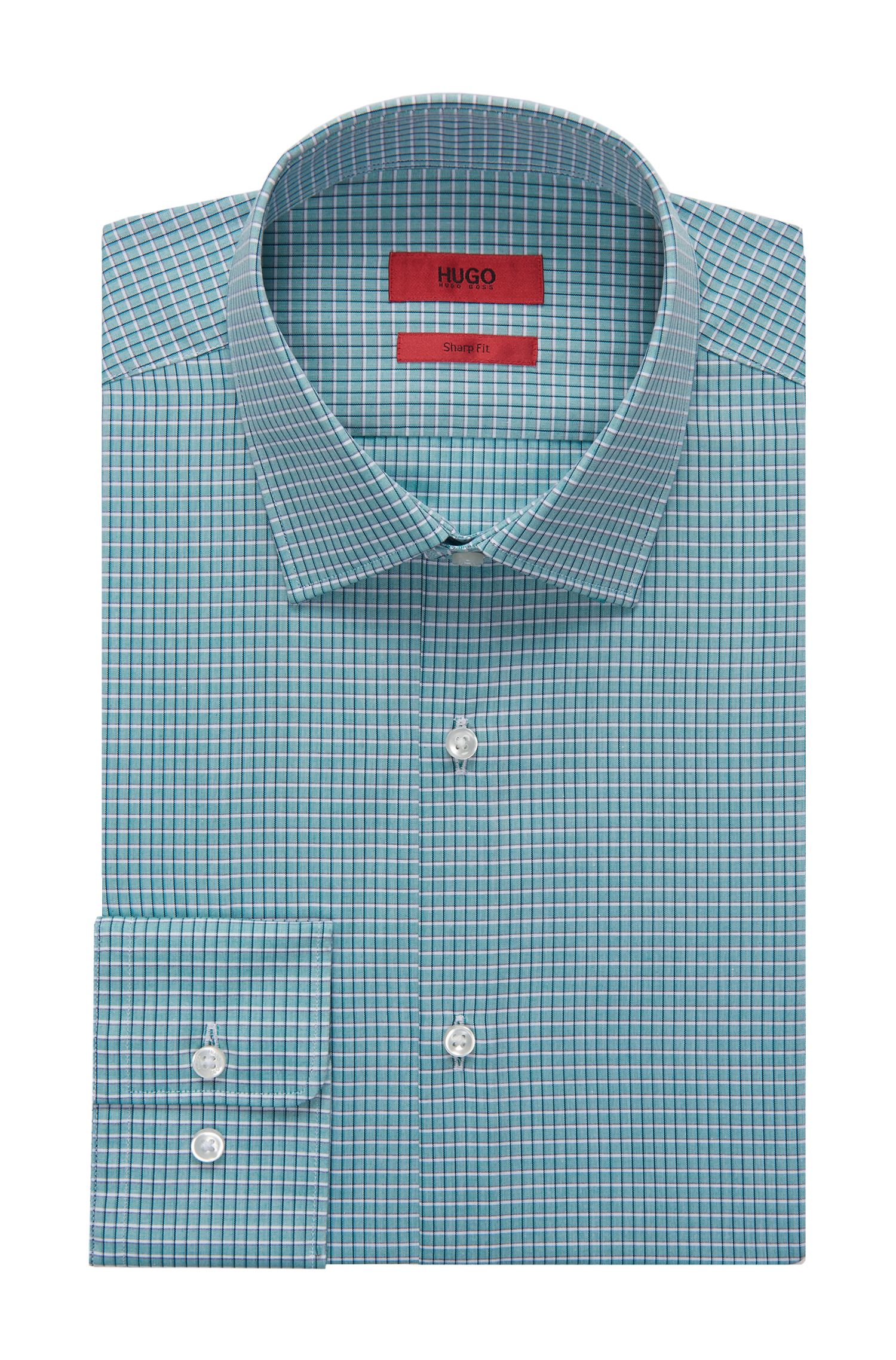 Checked Dress Shirt, Sharp Fit | C-Mabel