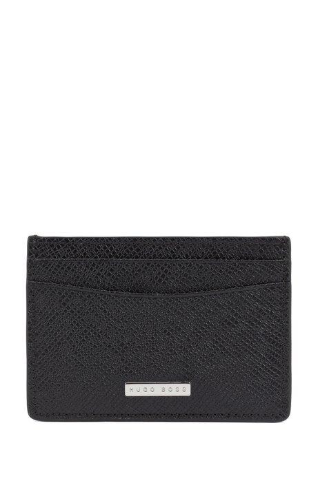 b844a59cc0 Signature Collection money clip in palmellato leather, Black