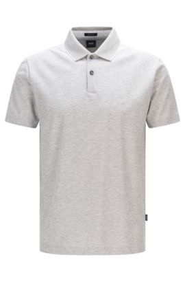 Cotton Polo Shirt, Regular Fit | Piket, Open Grey