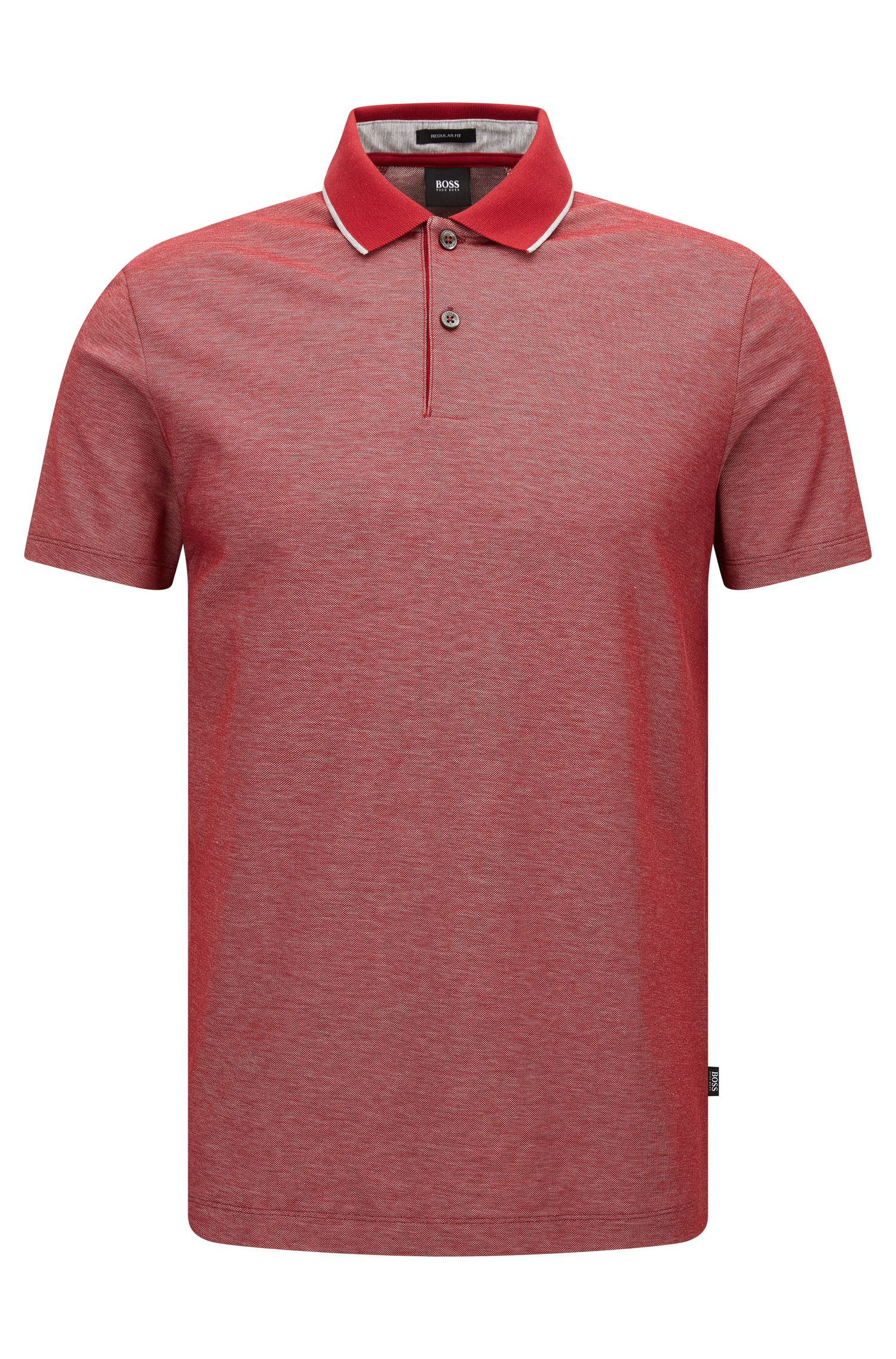 Cotton Polo Shirt, Regular Fit | Piket, Red