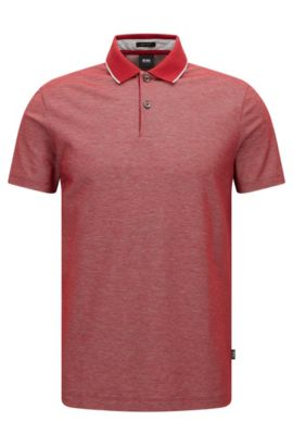 'Piket'| Regular Fit, Cotton Polo, Red