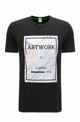 'Tee' | Cotton Graphic T-Shirt, Black