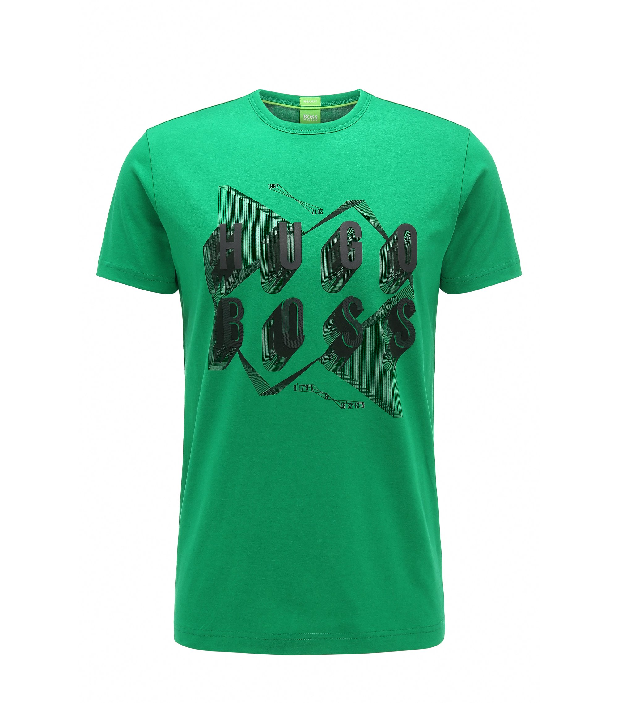 Cotton Graphic T-Shirt | Teeos, Open Green