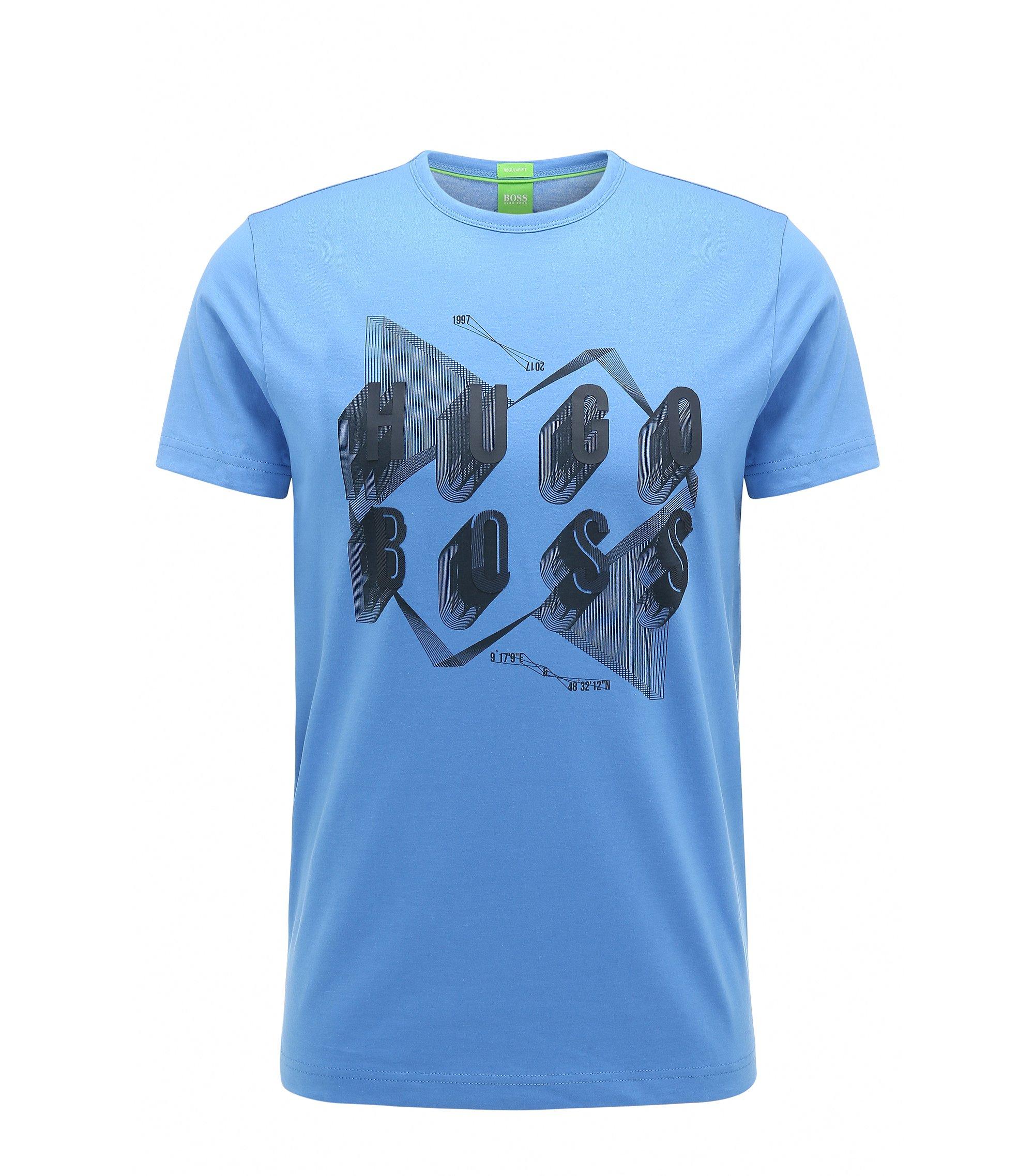 Cotton Graphic T-Shirt | Teeos, Blue