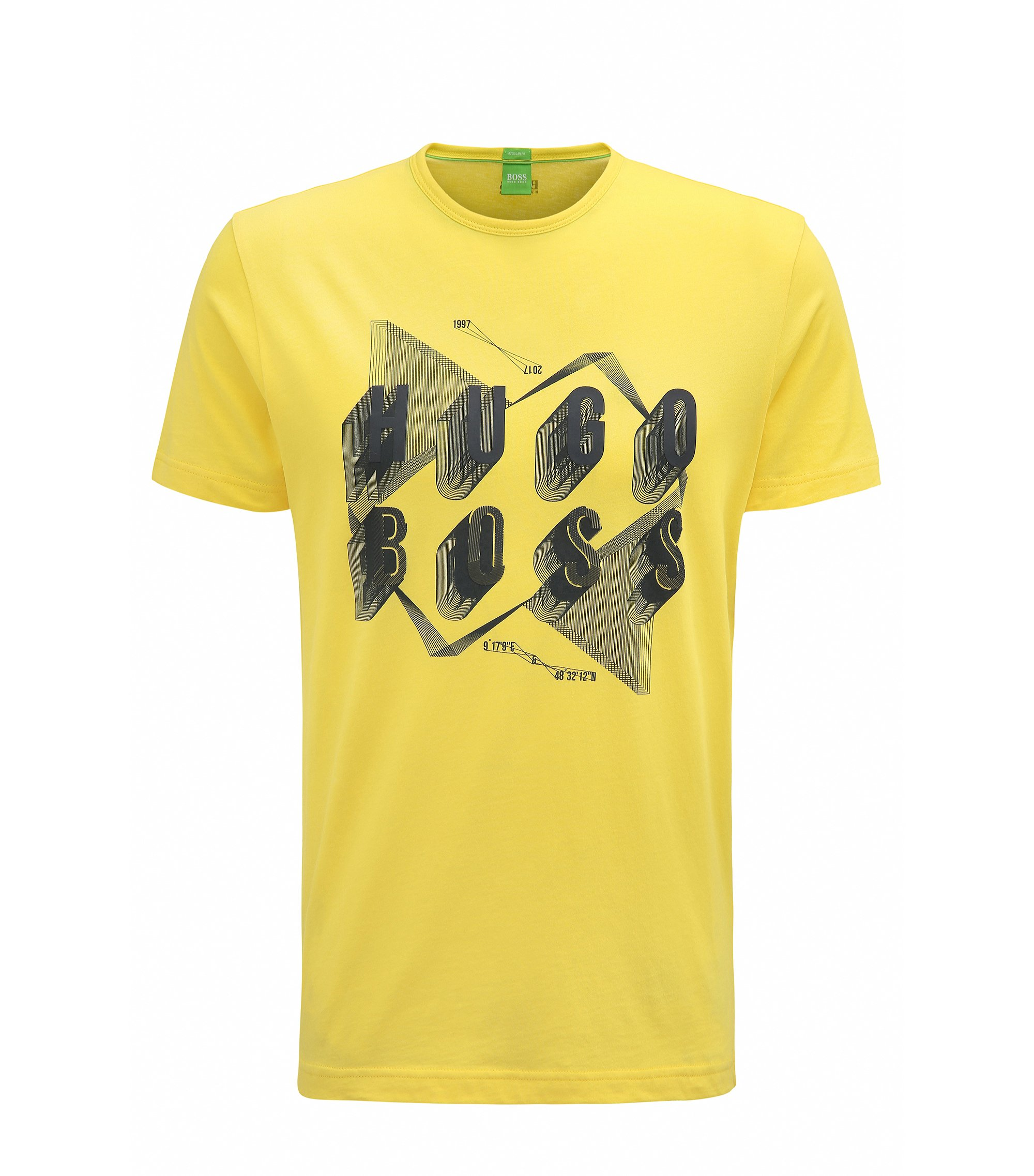 Cotton Graphic T-Shirt | Teeos, Open Yellow