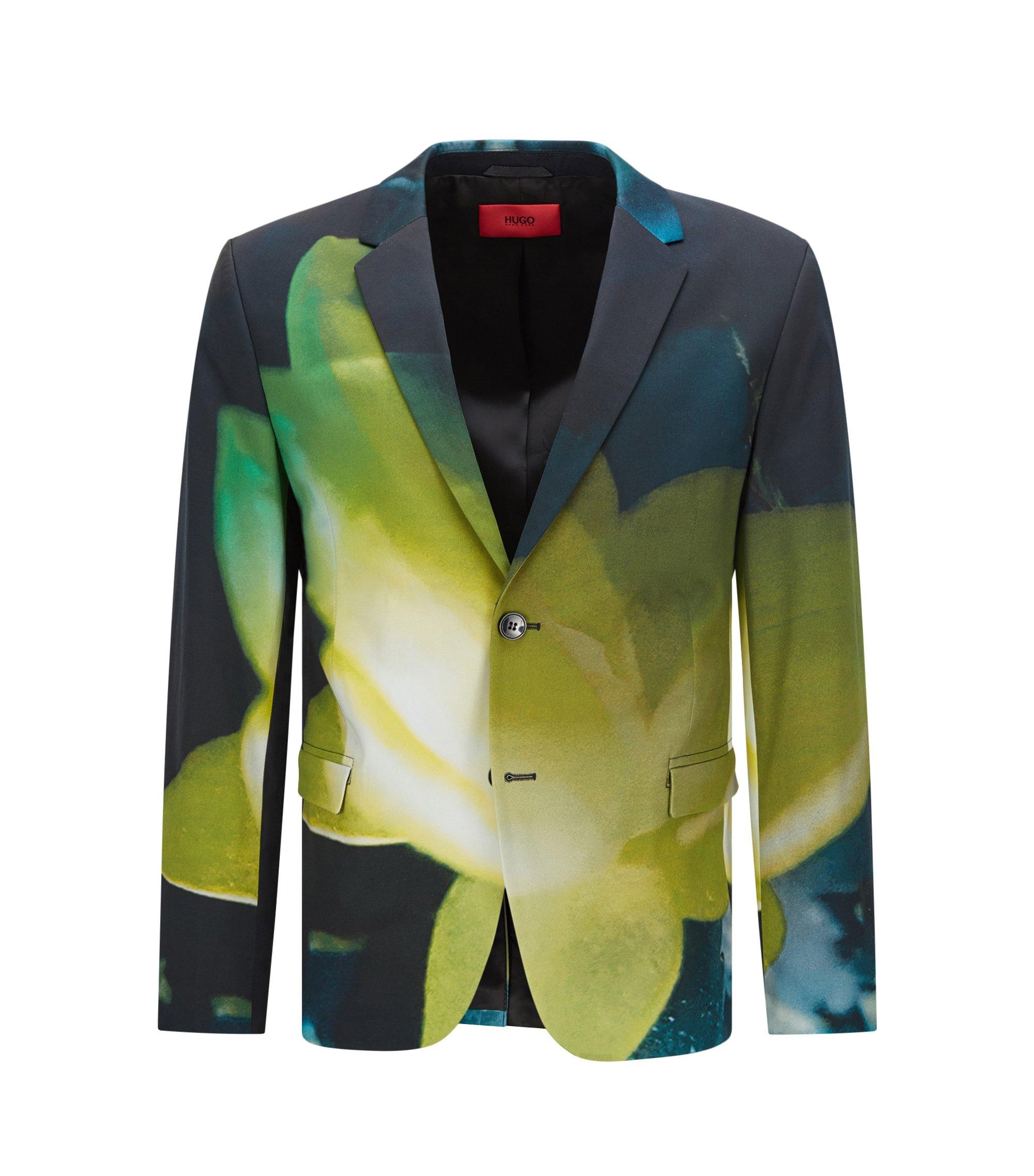 Stretch Cotton Sport Coat, Slim Fit   Arelto, Patterned