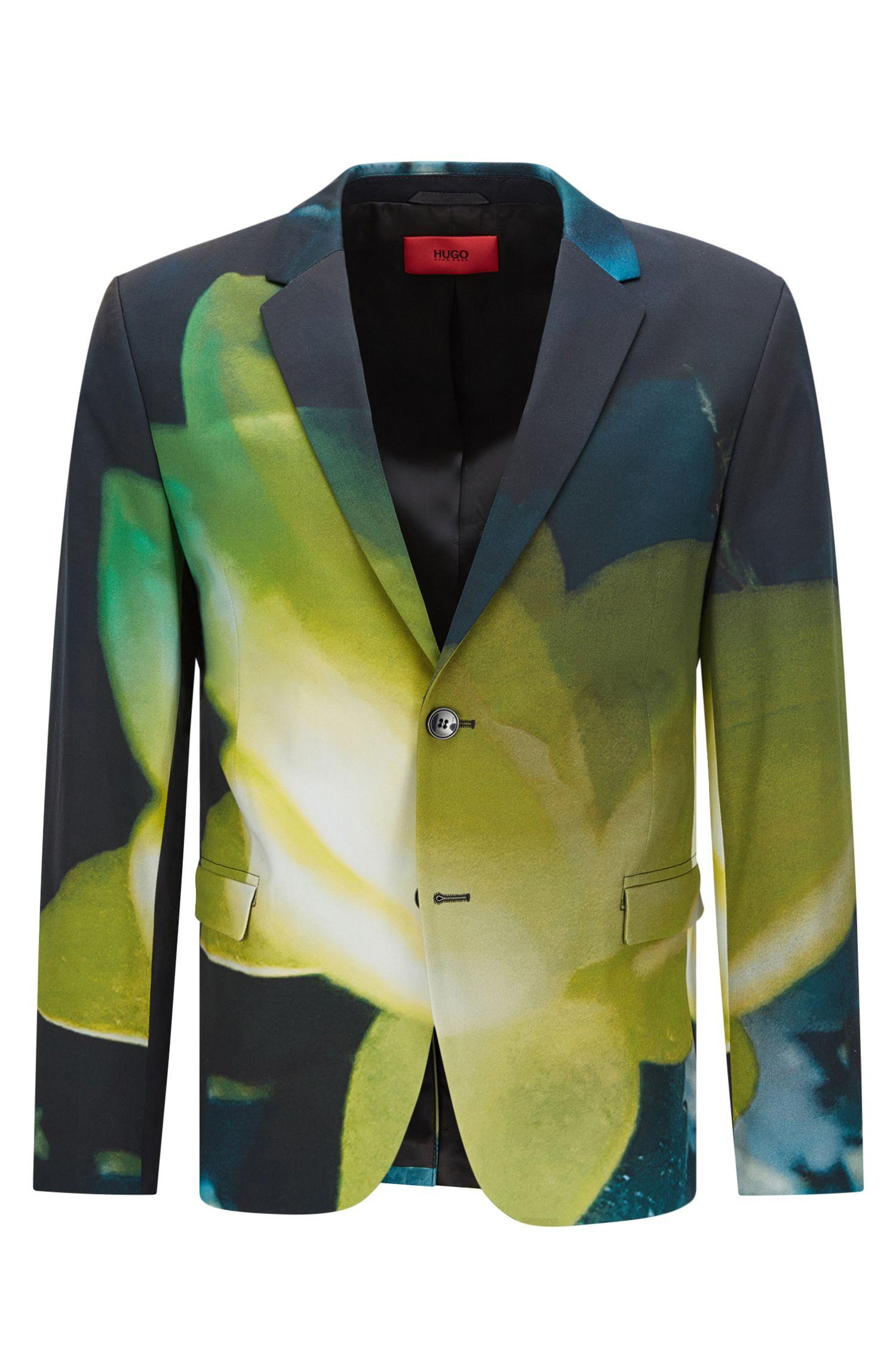 Stretch Cotton Sport Coat, Slim Fit   Arelto