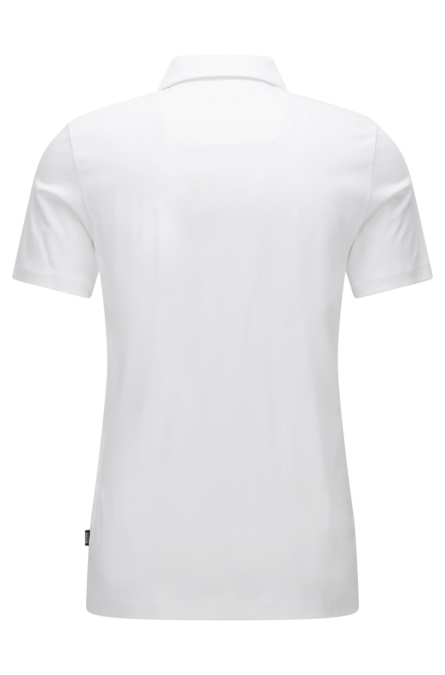 Cotton Polo Shirt, Regular Fit | Press, White