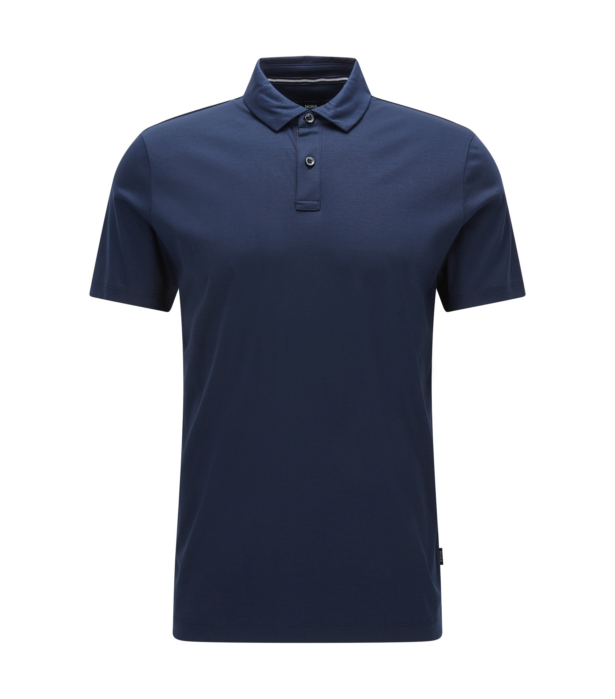 Cotton Polo Shirt, Regular Fit | Press, Dark Blue