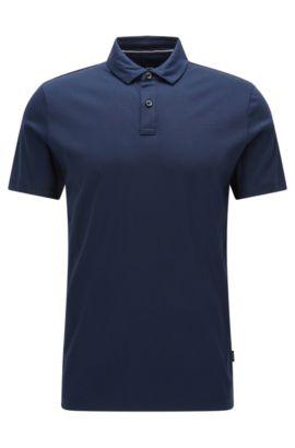 Cotton Polo Shirt, Regular Fit | Press, Dark Blue