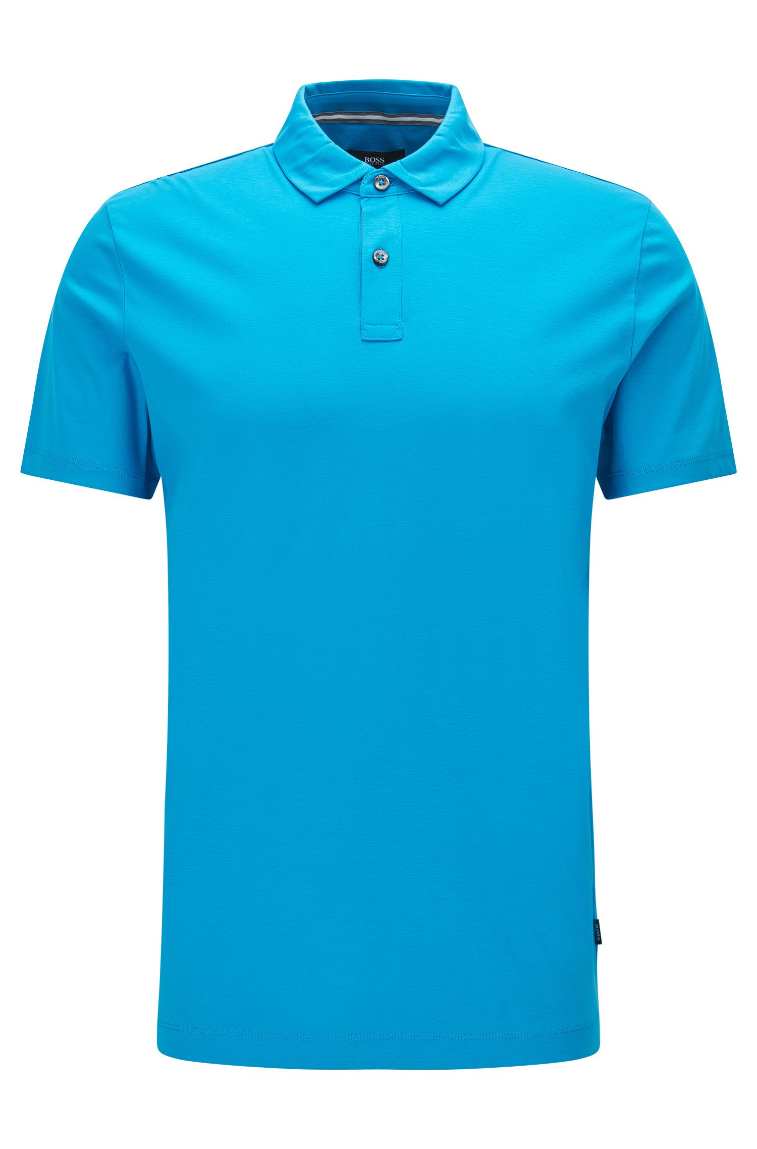 Cotton Polo Shirt, Regular Fit | Press, Light Blue