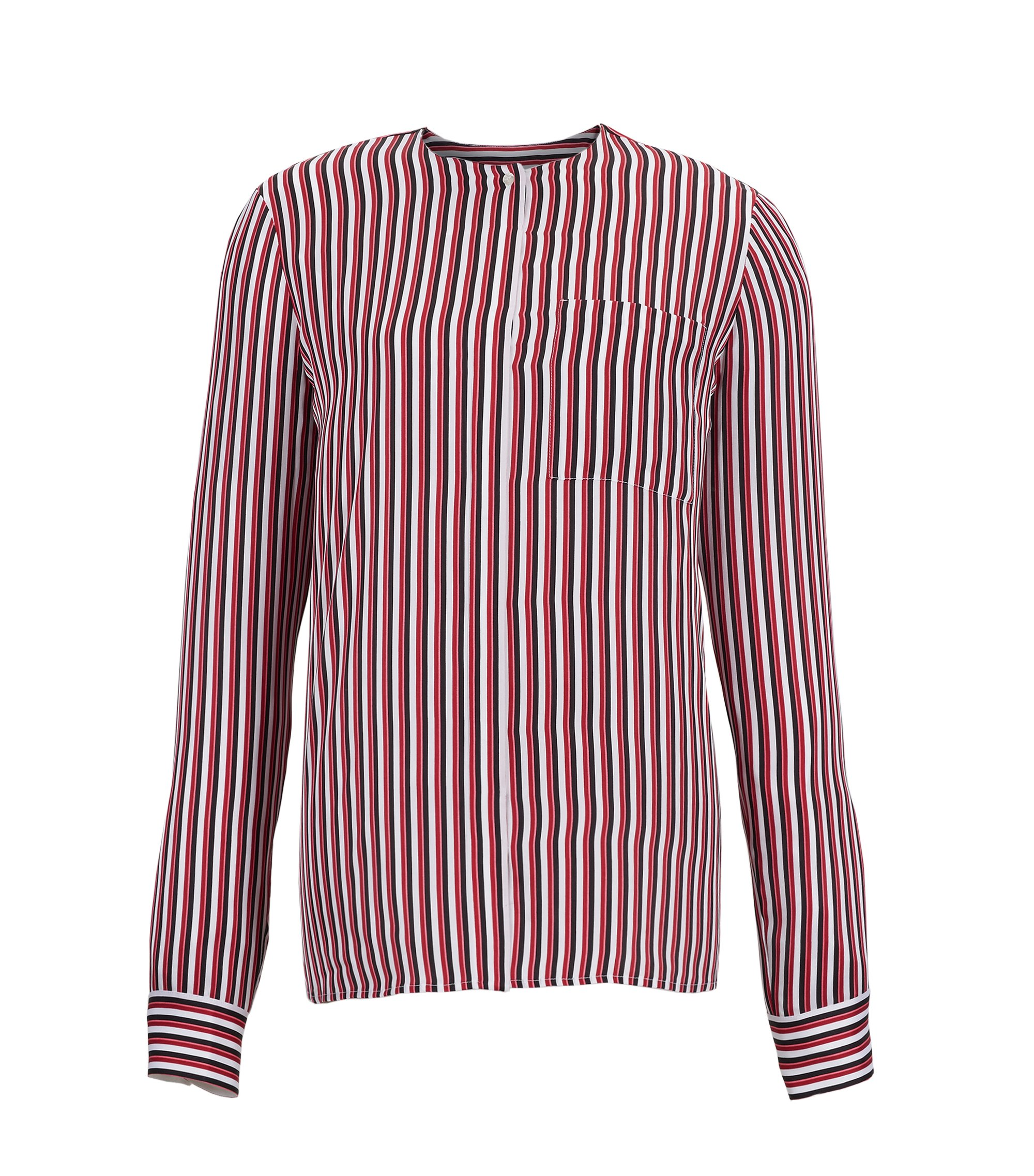 Striped Silk Blouse | Barani, Patterned