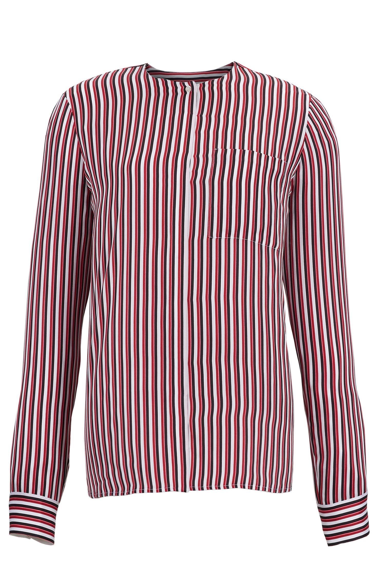 'Barani' | Striped Silk Blouse