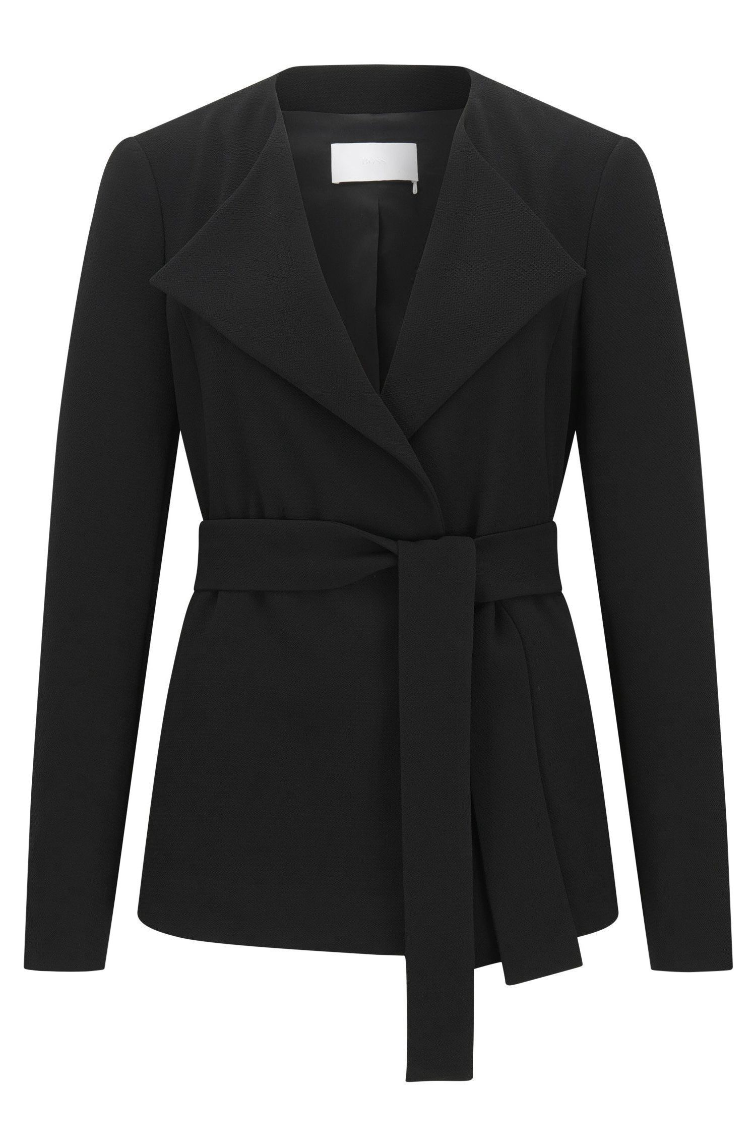 Self-Tie Woven Jacket | Karelina