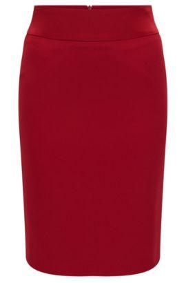'Visala'   Crepe Pencil Skirt, Red