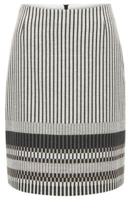 'Vemala' | Stripe Stretch Cotton Skirt, Patterned