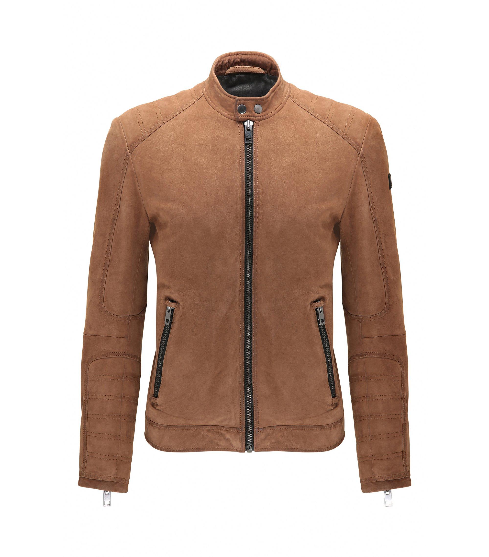 Suede Jacket, Slim Fit | Jondrix, Beige