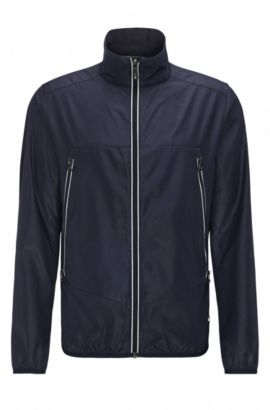 Geo-Print Nylon Jacket | Jounan, Dark Blue