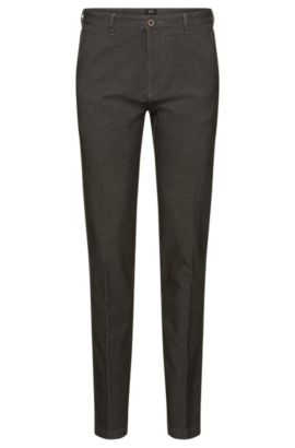 Crigan-W' | Regular Fit, Stretch Cotton Trousers, Grey
