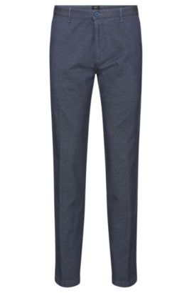 Crigan-W' | Regular Fit, Stretch Cotton Trousers, Turquoise