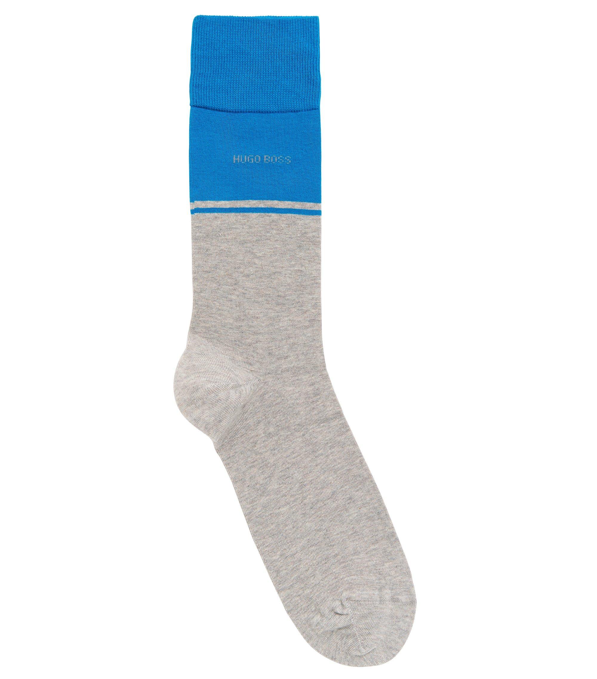 Stretch Cotton Blend Sock | RS Design US, Silver