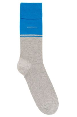 'RS Design US' | Stretch Cotton Blend Socks, Silver