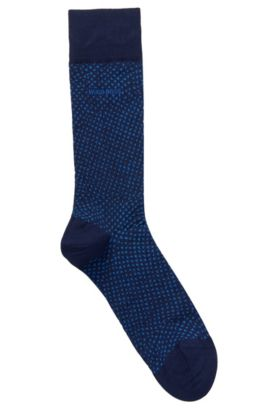 'RS Design US' | Stretch Cotton Blend Socks, Dark Blue