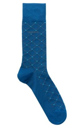 Stretch Cotton Blend Sock | RS Design US, Open Blue