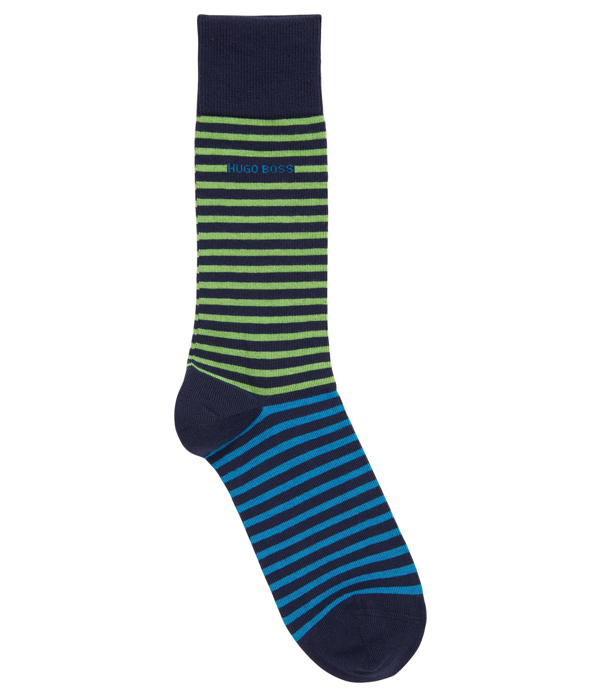 Stretch Cotton Blend Sock | RS Design US, Dark Blue