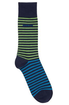 'RS Design US' | Stretch Cotton Blend Socks, Dark Blue