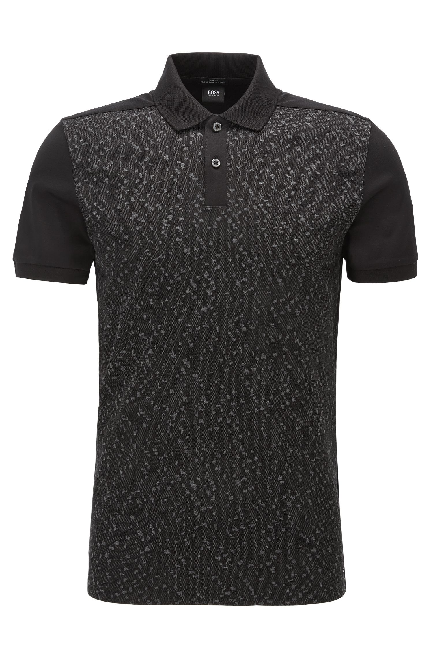 'Phillipson'   Slim Fit, Cotton Patterned Polo Shirt