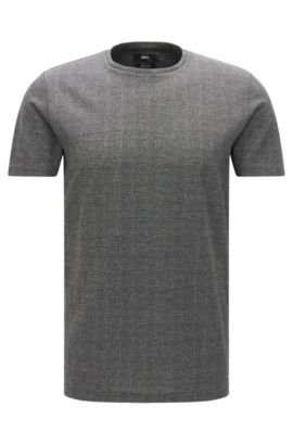 Mercerized Cotton T-Shirt | Tiburt, Grey