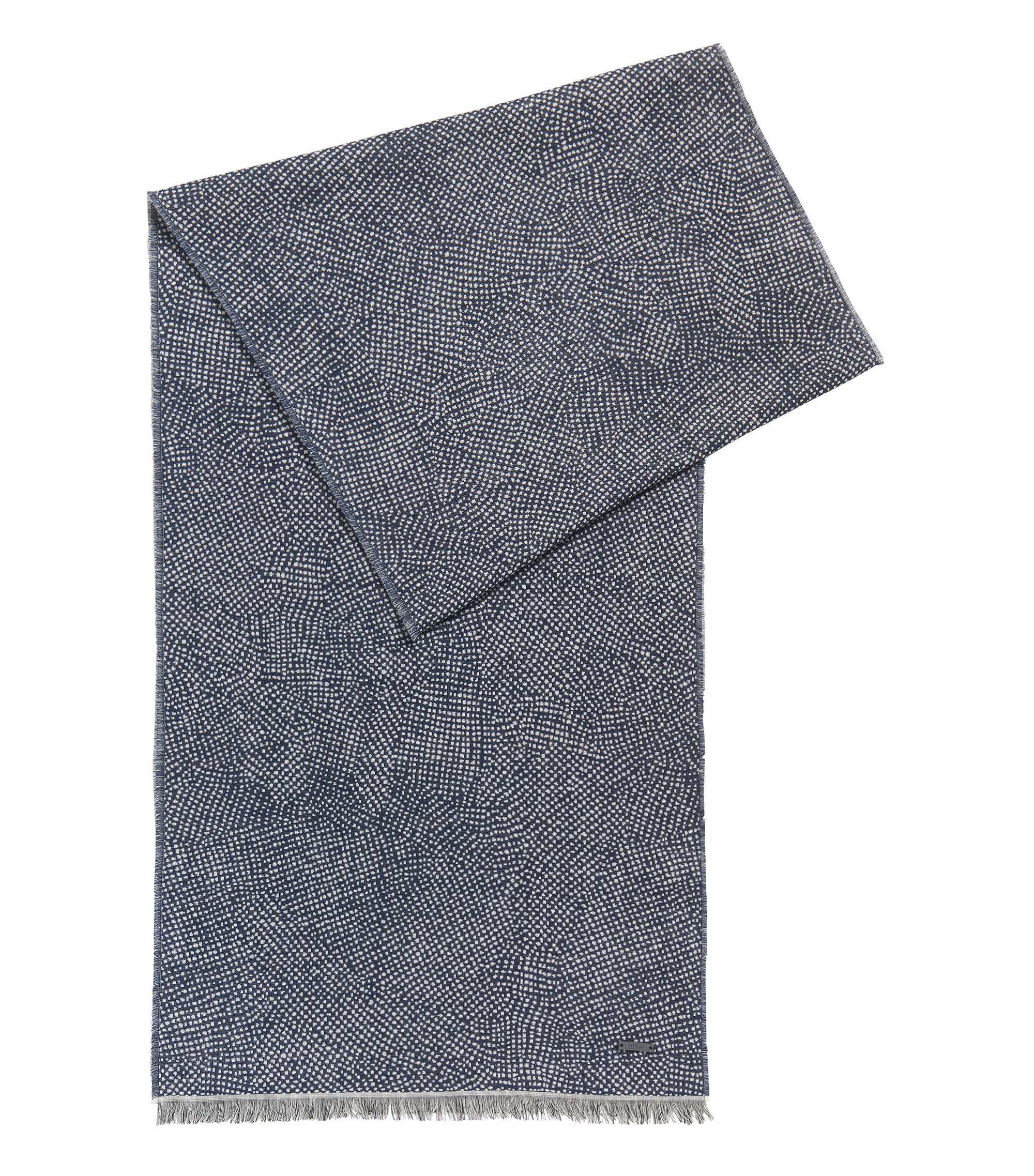 Dotted Viscose Blend Scarf | Caionic, Dark Blue