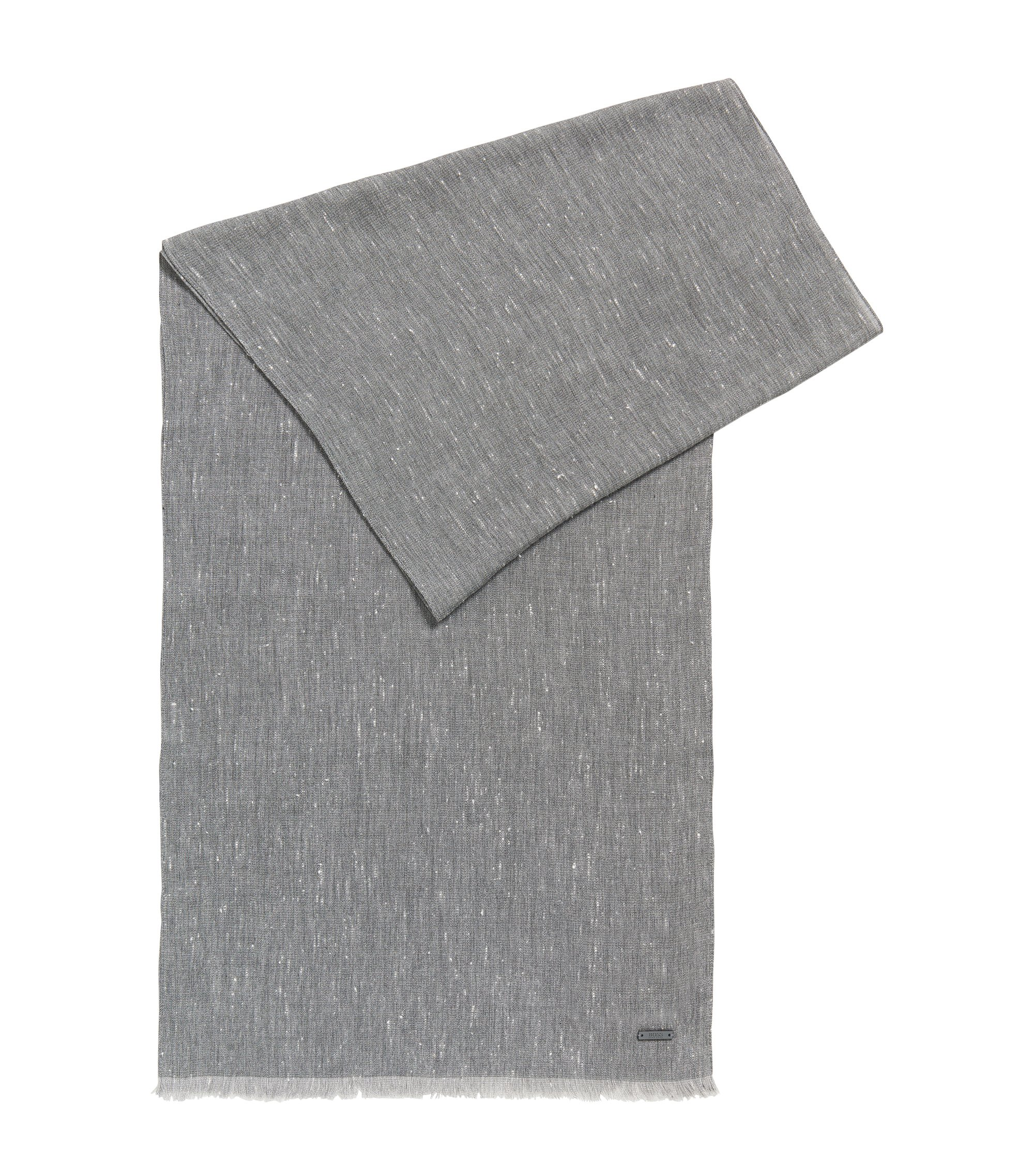 Heathered Viscose Cotton Scarf   Carrit, Light Grey