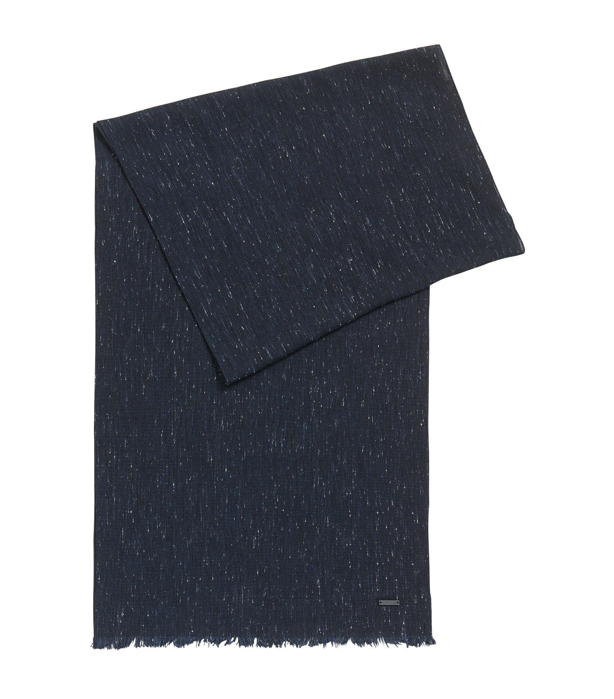 Heathered Viscose Cotton Scarf | Carrit, Dark Blue